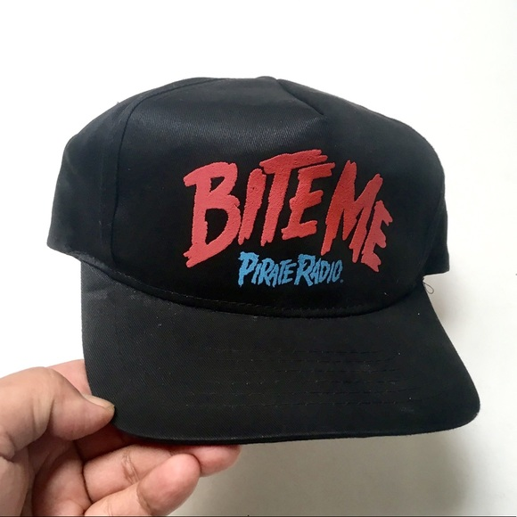 Vintage 80s Pirate Radio Los Angeles Bite Me Cap